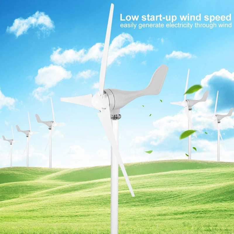 500W DC12V Wind Turbine 3 Blades Wind Generator Windmill Kit Electricity Producer Equipment