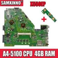 X550ep placa-mãe hd8670m rev: 2.0 para asus f552e x552e x552ep portátil placa-mãe x550ep mainboard teste ok A4-5100 4 gb ram