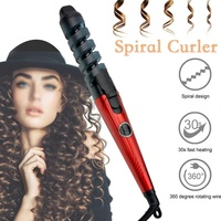 Professional Electric Hair Curlers Curl Ceramic Spiral Hair Curling Iron Roller Curling Wand Salon Hair Styling Tools Portable 2