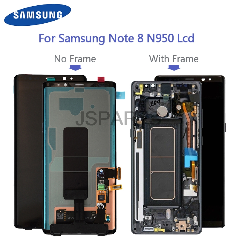 Original Super Amoled For Samsung Galaxy Note 8 N950 N950F N950U LCD Display Touch Screen Working With Black Spot Replacement