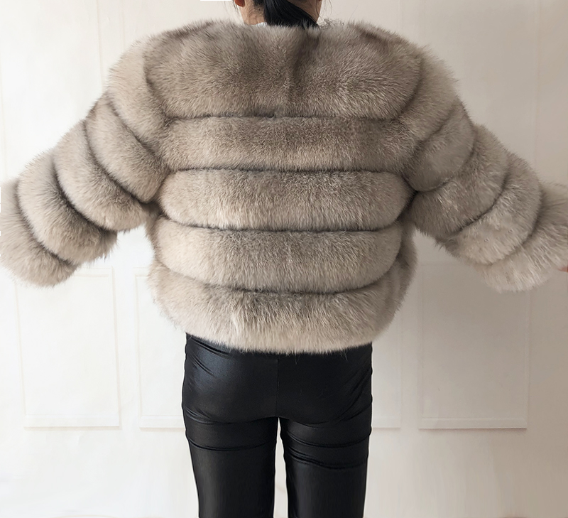 2019 new style real fur coat 100% natural fur jacket female winter warm leather fox fur coat high quality fur vest Free shipping 155