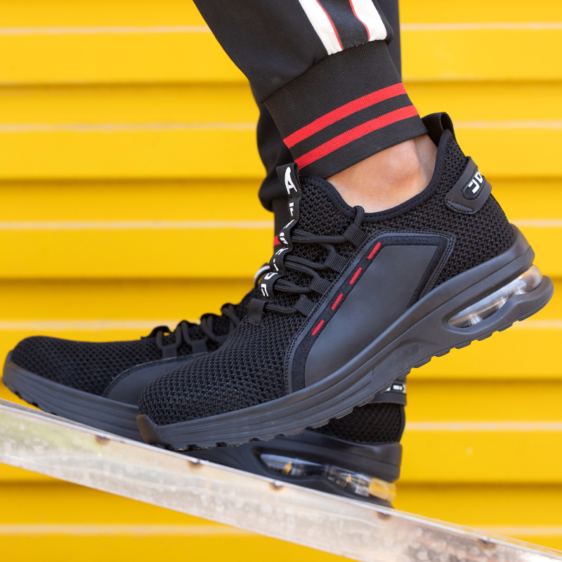 Breathable Men Work Safety Shoes Anti-smashing Steel Toe Cap Working Boots Construction Indestructible Work Sneakers Men Shoes 4