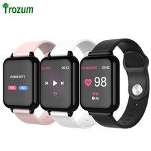 Trozum b57 mulher smartwatch 1.3 ips monitor de freqüência cardíaca pressão arterial relógio inteligente y77 dwaterproof à prova d57água pulseira inteligente b57c