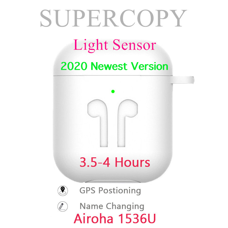 Supercopy Air 2 / Aire 2 1:1 TWS Bluetooth Earphones Airoha 1536U Rename + GPS In-ear detection Light sensor Wireless Earbuds image