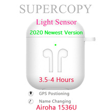 Supercopy Air 2 / Aire 2 1:1 TWS Bluetooth Earphones Airoha 1536U Rename + GPS In-ear detection Ligh