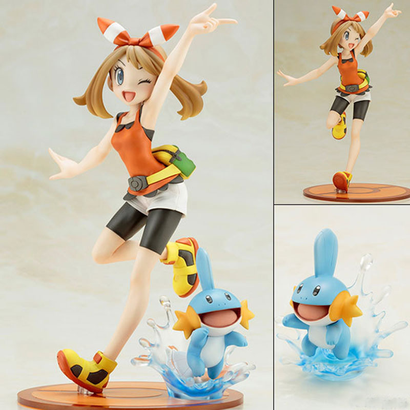 Takara Tomy Pokemon Pikachu May with Mudkip Action Figure Toys Model Toys For Children Birthday Christmas Gift image