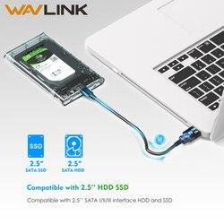 Wavlink Caso HDD 2.5 SATA a USB 3.0 Adapter Hard Drive Enclosure per 2.5