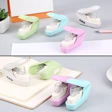 No Nails Stapling Machine Mini Cute Book Stapler Staples required Stapleless Paper