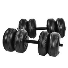 Adjustable Anti-Kebocoran Air Meningkat PVC Berat Dumbbell Set 25Kg Binaraga Latihan Peralatan Air Dumbbell Barbel Kit(China)