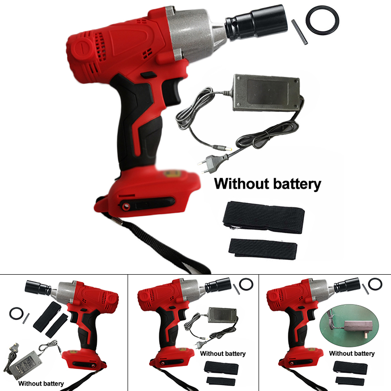 Rechargeable Electric Cordless Impact Wrench With LED Light Charger Durable DC Adaption Activated No Battery