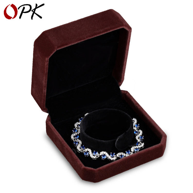 Korean-style Accessories Square Fleece Flip Box Put Broad Jewelry Mian He Hh174