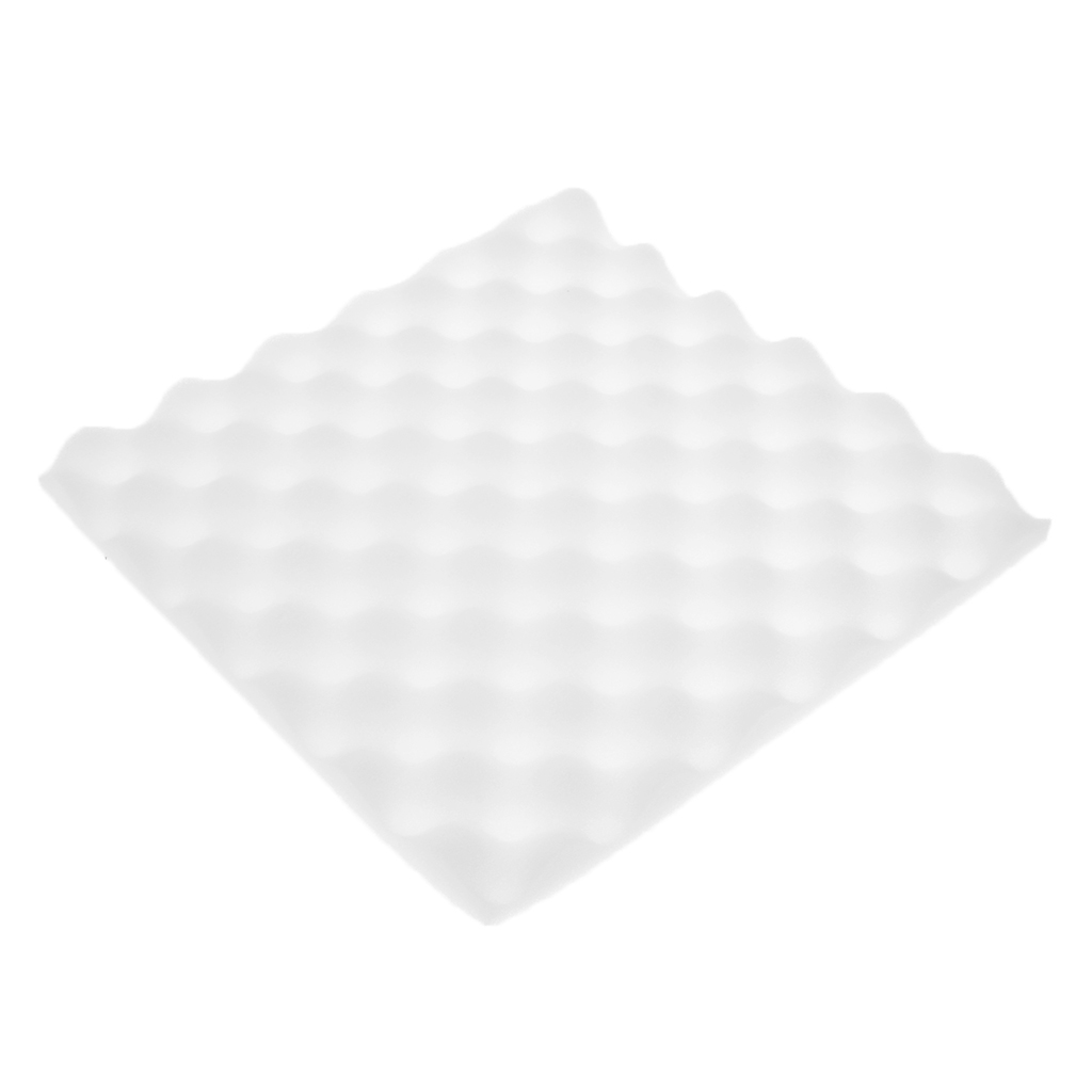 Pack Of 2 Acoustic Foam Sound Insulation Panel Eggcrate Wall Tiles, Black/White