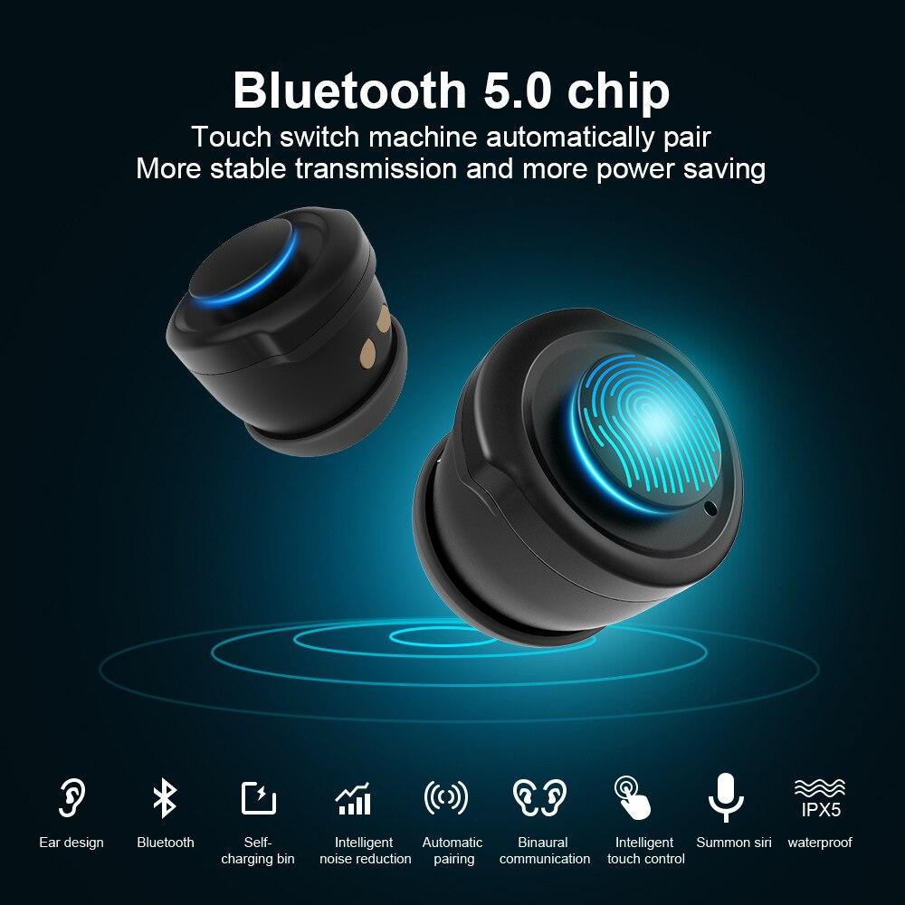 Femperna Wireless Headphones Double Bluetooth Earub Earphones Answer Call Breath Light Fitness Smart Band Wristband Smart Watch - 3