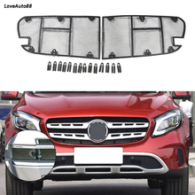 Car Insect Screening Mesh Front Grille Insert Net For Mercedes Benz GLA 2017 2018 2019