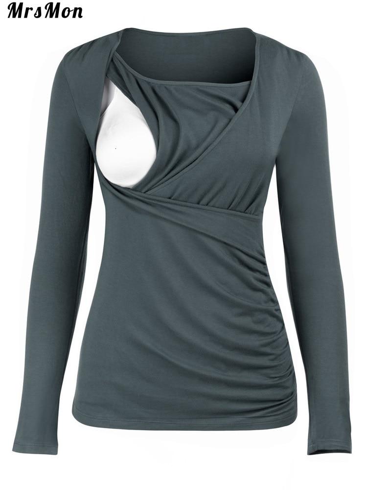 New Round Collar, Long Sleeves, Slim Maternity Wear, T-shirt, Lactation Jacket Nursing Dresses Breastfeeding Jacket For Feeding