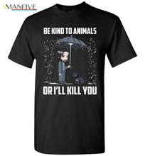 Be Kind To Animals John Wick Against Animal Abuse Funny T-Shirt Style Round Style t shirt Tees Custom Jersey feyenoord lgbt ajax john wick be kind to animals or i ll kill you with a f king pencil shirt cartoon t shirt men unisex new fashion tshirt