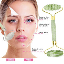 1PCS Natural Facial Beauty Massage Tool Jade Roller Face Thin Massager Relaxatio