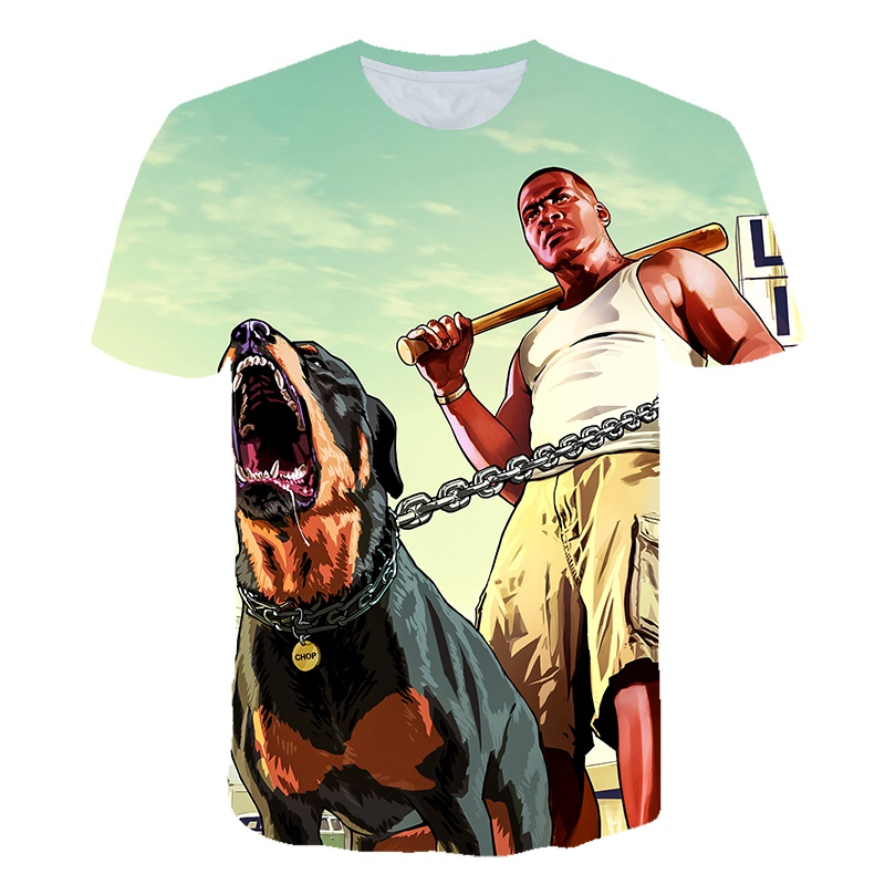 Childrens Unisex GTA5-Printed T-Shirts