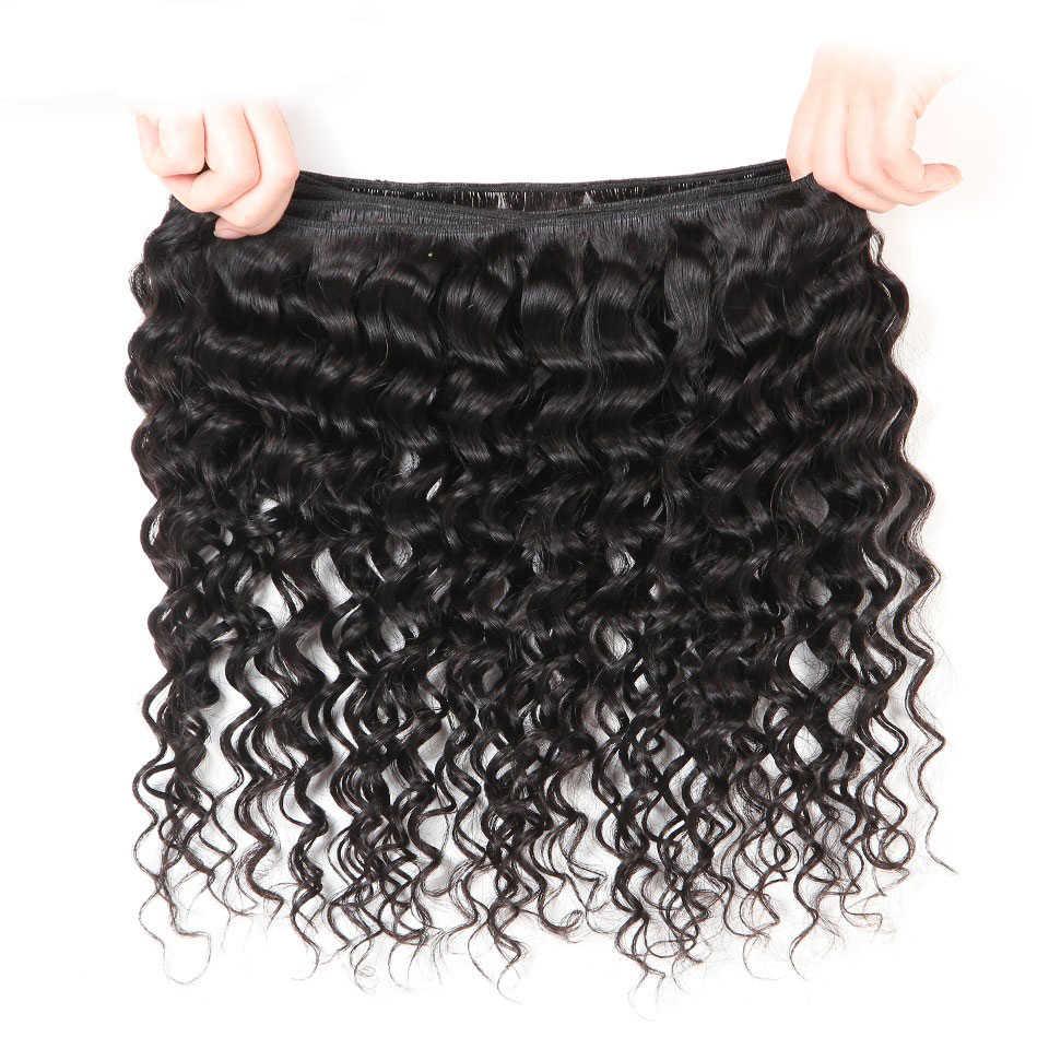 Beleza graça onda profunda pacotes 100% feixes de cabelo humano ofertas peruano cabelo brasileiro tecer pacotes não remy extensões de cabelo