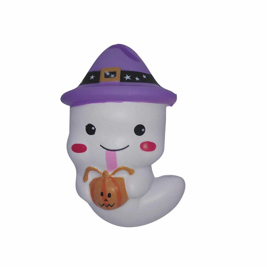 Kawii איטי עולה ג 'מבו שן רטוב צעצוע סימולציה חמוד רך לסחוט Antistress צעצוע Squishes ריחני טלפון רצועה