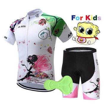 2020 crianças Camisa de Ciclismo manga curta bicicleta desgaste roupas de ciclismo rosa crianças esportes Ao Ar Livre ciclismo roupas MTB ropa ciclismo 1