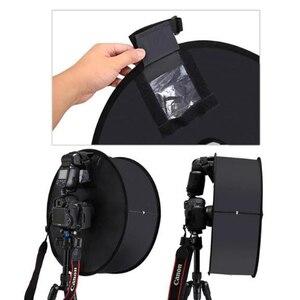 Image 3 - Ring Softbox Speedlite Softbox Flitslicht Stand 45Cm Opvouwbare Diffuser Ring Speedlight Soft Box Voor Canon Nikon Speedlight