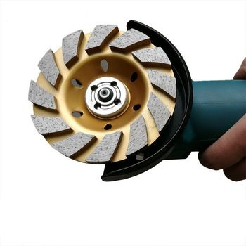 100mm 4 Inch Thick Diamond Grinding Disc Stone Grinder Wheel Angle Grinder Concrete Abrasive Disc Diamond Cup Grinding Wheel 5 inch 125mm single row cup wheel for concrete grinding disc grinding wheel bore 22 23mm