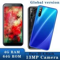 A30 mundial de teléfonos móviles Celulares 2SIM teléfonos inteligentes Android 5,1 4G RAM 64G ROM teléfono teléfonos Celulares 13MP identificación facial desbloqueado Quad Core