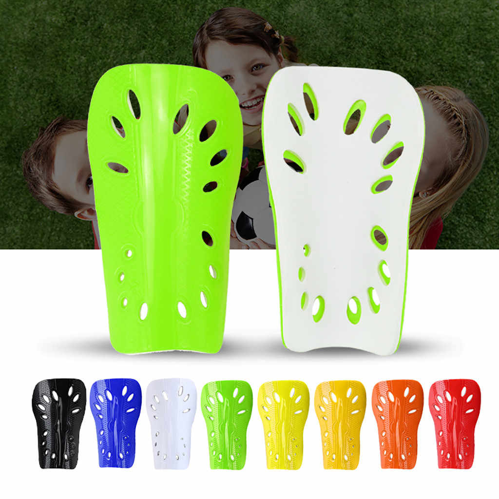 Quality 2pcs Kids Football Shinpads Adult Soccer Breathable Shin Protection Pads