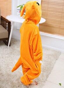 Image 4 - Kigurumi Pajamas Kangaroo Kids Animal Children Pajamas for Boys Girls Baby Cute Pyjama Onesies Winter Long Sleeve Sleepwear