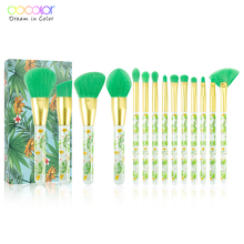 Docolor 14Pcs Makeup Brushes Set Professional Powder Foundation Eyeshadow Make Up Cosmetics Soft Synthetic Hair