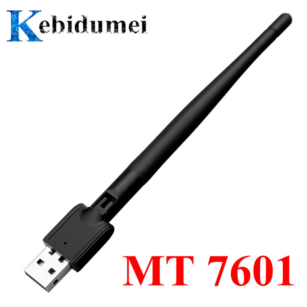 Kebidumei Freesat MT-7601 tarjeta de red USB antena inalámbrica WiFi adaptador LAN para decodificador de TV USB WiFi Adpater