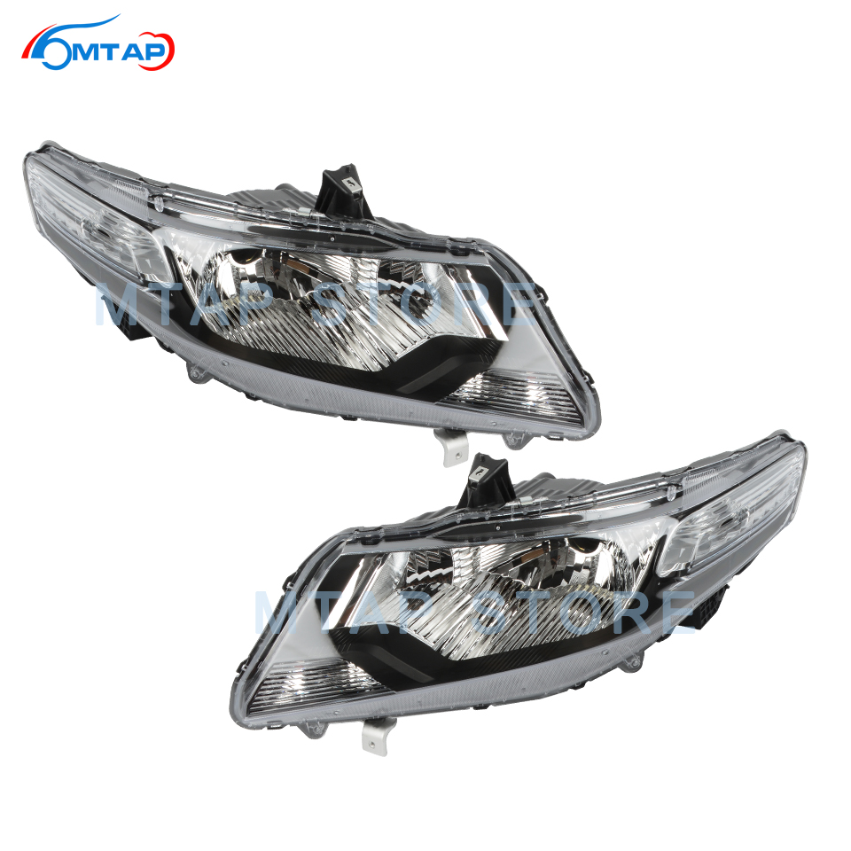 MTAP Headlamp Headlight Assy Halagen Manual Adjust For Honda For CITY 2009 2010 2011 Front Bumper Head Light Lamp