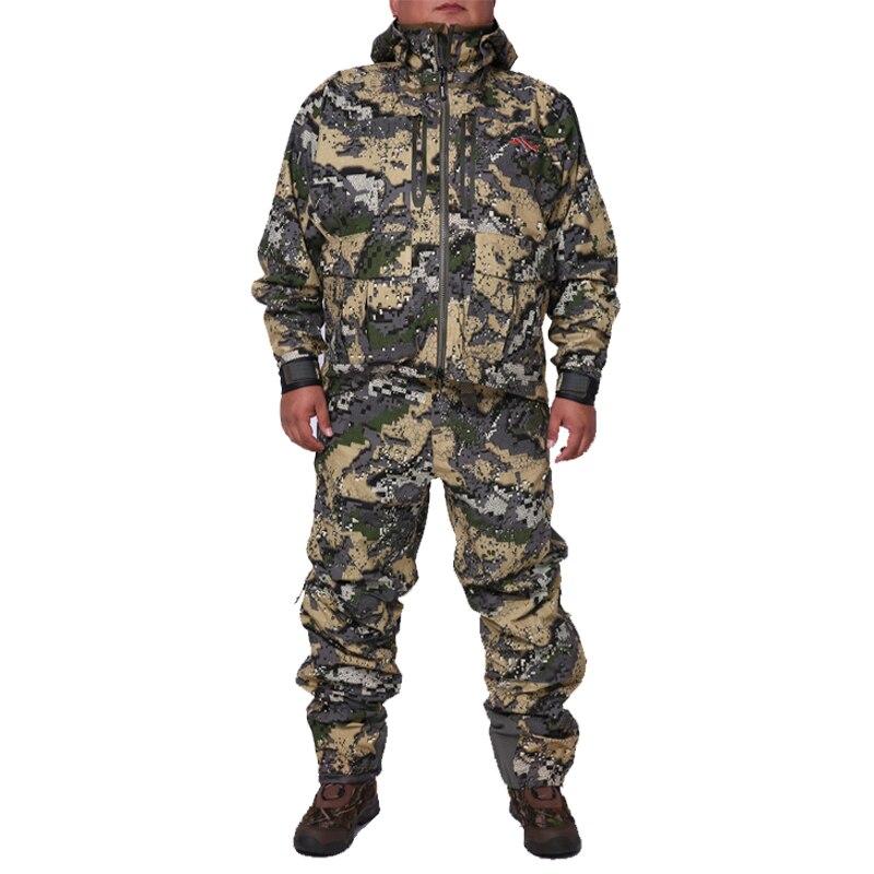2019 Caccia suiCamouflage All'aperto Uomini Giacca Impermeabile Vestiti Da Caccia Giacca A Vento Cappotto del Rivestimento dello stesso paragrafo sitka