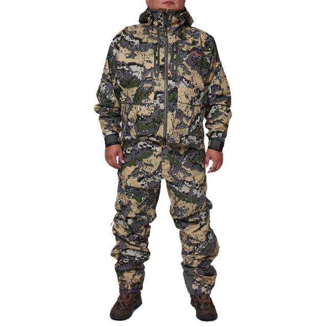 2019 avcılık suiCamouflage açık ceket erkekler su geçirmez av kıyafetleri rüzgarlık ceket ceket aynı paragraf sitka