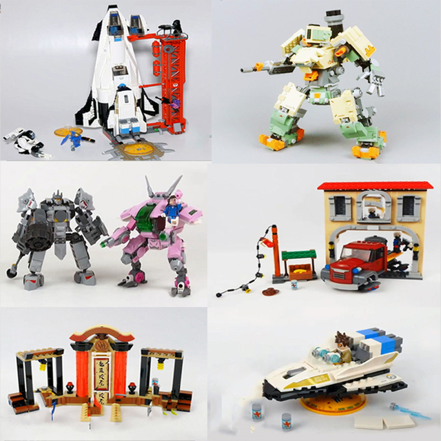 New Overwatche Video Games Bricks Wrecking Ball Soldier Shimada Hanzo Set widowmaker figures building Lepine Blocks Mini Toys