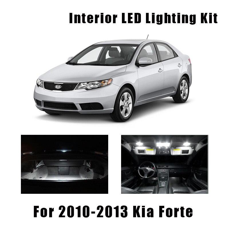 8 лампочек, Белый светодиодный автомобильный купол Canbus для карты, комплект для салона, подходит для 2010 2011 2012 2013 Kia Forte багажник, грузовой лицен...