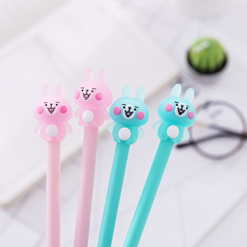 Korean Stationery Creative Cute Cartoon Rabbit Neutral Pen Student Examination Writing Signature Office Black