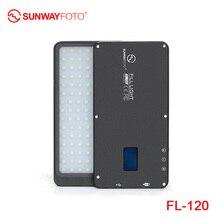 SUNWAYFOTO FL-120 светодиодный светильник для видеосъемки светильник ing On Olympus Pentax DV camera Горячий башмак Диммируемый светодиодный светильник для DSLR YouTube фотостудии