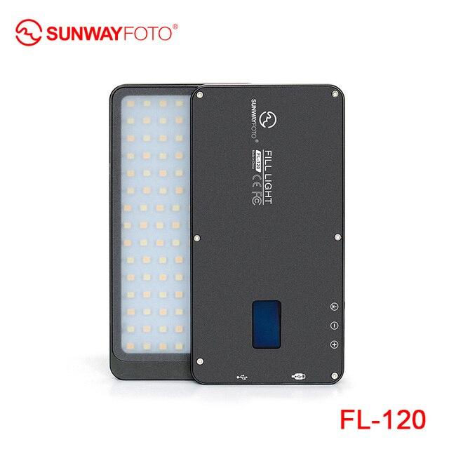 SUNWAYFOTO FL 120 LED lumière vidéo éclairage Photo sur Olympu Pentax DV caméra chaussure chaude réglable LED pour DSLR YouTube studio photo