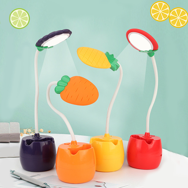 LED Night Light Energy Saving Eye Protection Learning Charging Night Light Strawberry Carrot Fruit Shape LED Lamps Table Lamp in Night Lights from Lights Lighting