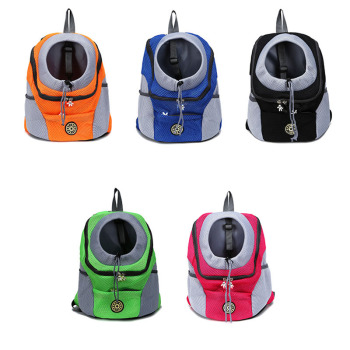 NIPEECO Outdoor Breathable Dog Carrier Backpack Double Shoulder Portable Front Mesh Travel Pet Bags for Cat Small Medium Dogs