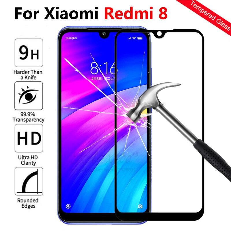 For Xiaomi redmi 8 Full cover Tempered Glass screen protector on the For Xiaomi xiomi Redmi 8 redmi8 protective Film Front glas