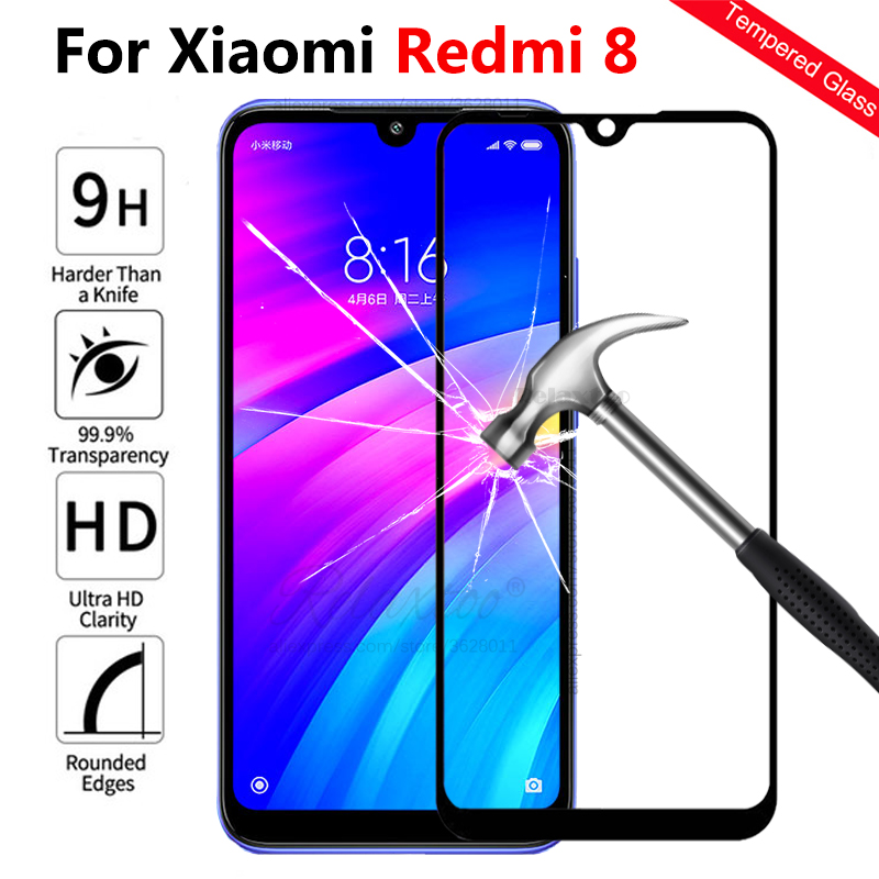 For Xiaomi Redmi 8 Full Cover Tempered Glass Screen Protector On The For Xiaomi Xiomi Redmi 8 Redmi8  Protective Film Front Glas