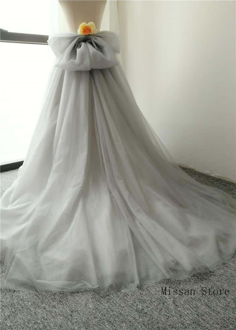 Light Grey Short Train Bridal Skirt Wedding Skirt Wedding Party Skirt Puffy Wedding Dress Petticoat