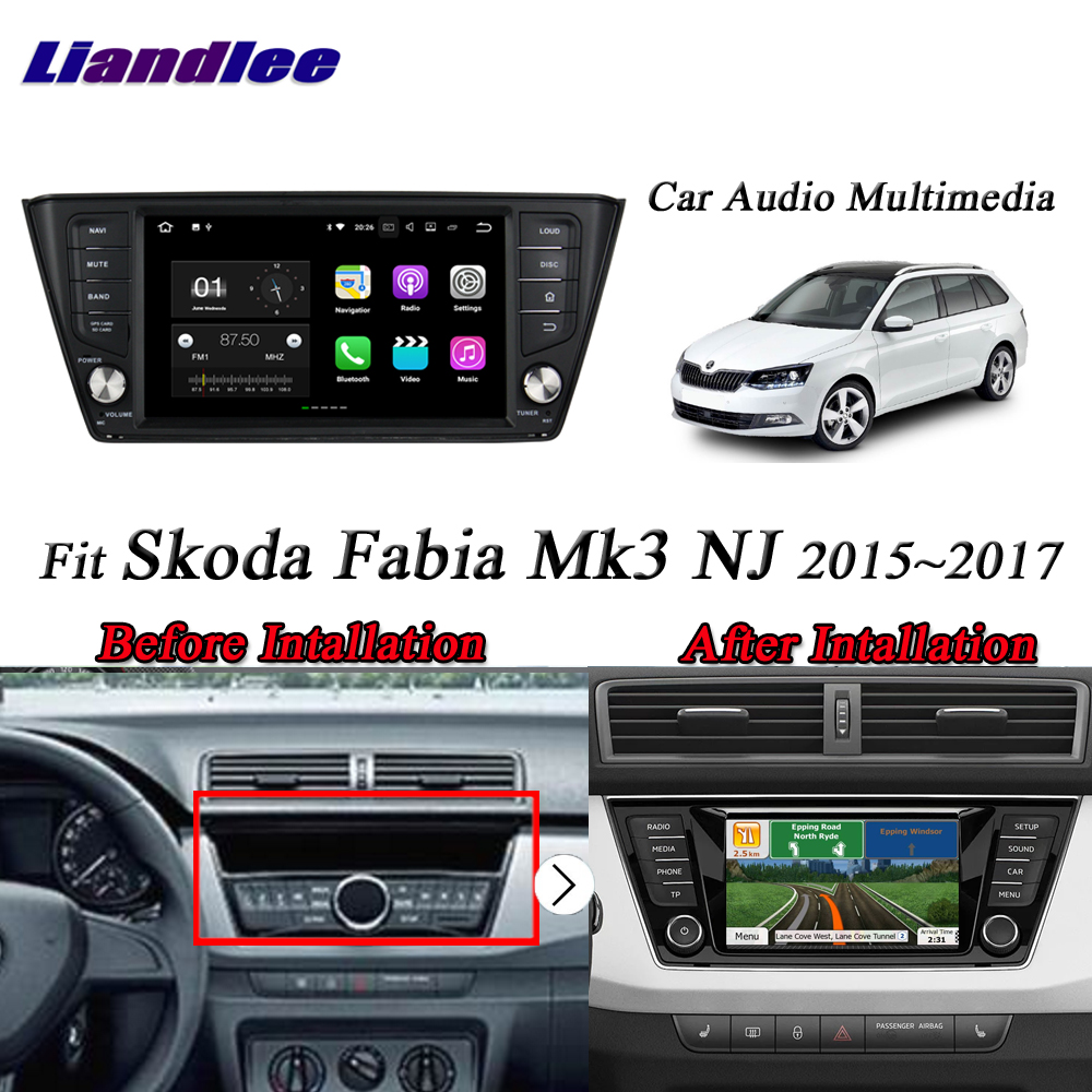 Car Radio Android Multimedia For Skoda Fabia Mk3 NJ 2015 2016 2017 2018 CD DVD Player GPS Navigation System HD Screen Display TV image