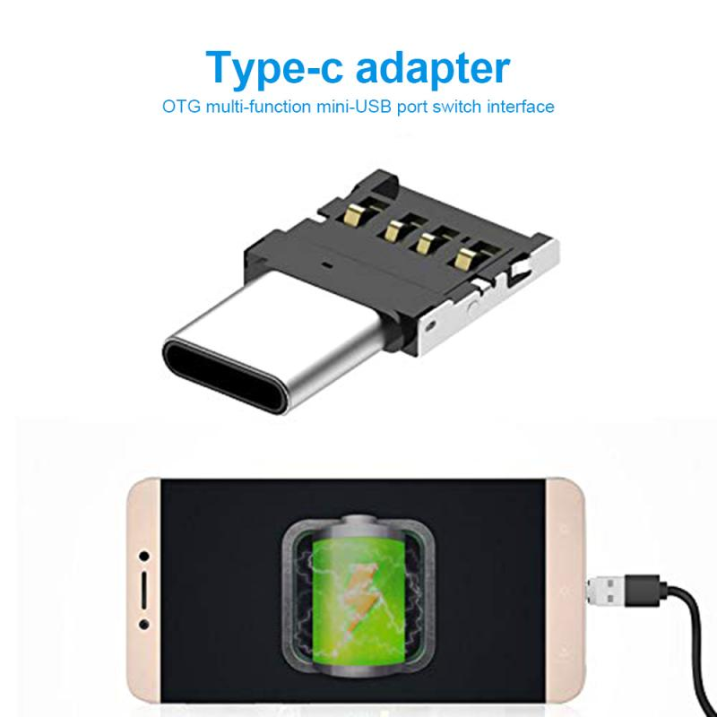5/1PCS Mobile Phone Adapter  For Xiaomi Huawei Samsung Galaxy TSLM1 USB Type C OTG Adapter Type-c Multi-function Converter