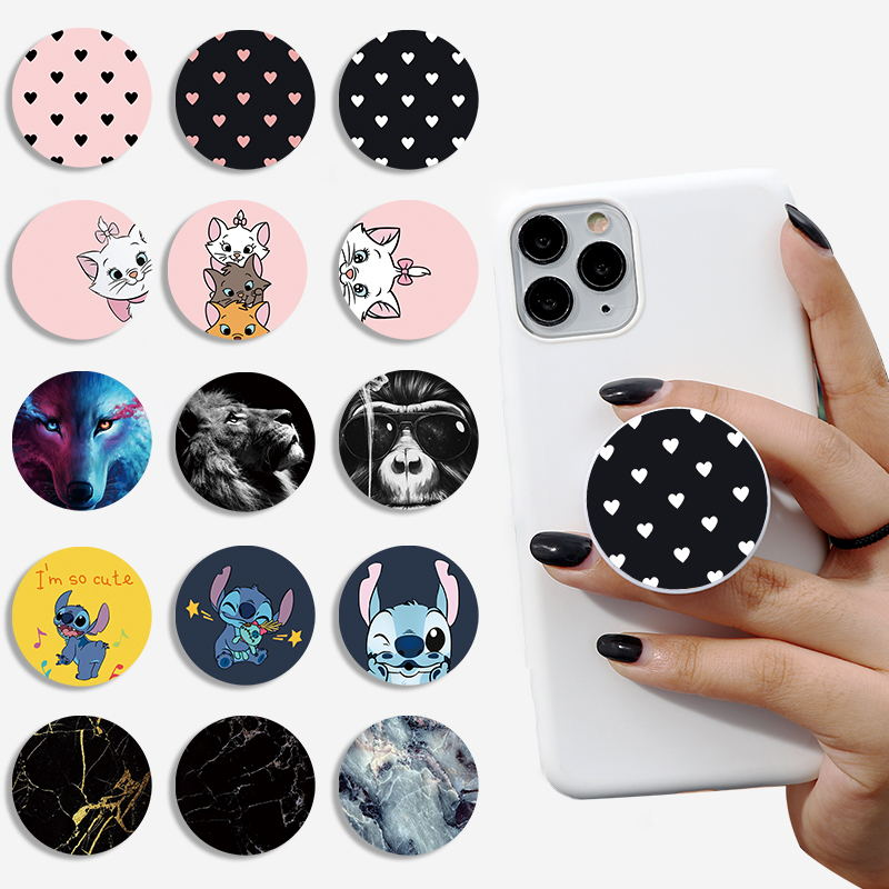 Cartoon Lovely Phone Bracket Foldable Phone Stand Holders For Smartphones And Tablets Mobile Phone Universal Finger Ring Holder