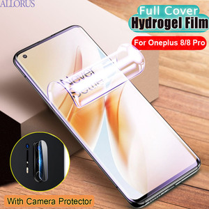 Soft Hydrogel Film Oneplus 8 Pro Screen Protector Full Cover Anti-scratch Not Glass Front Film One plus 8 Pro Oneplus8Pro Film(China)