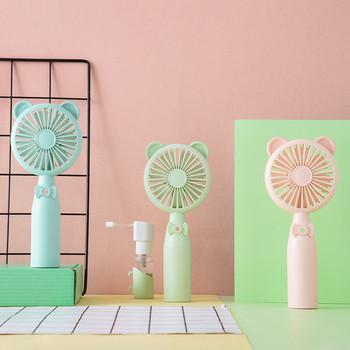 Mini Handheld Fan Mist Spray Fan Air Water Bottle Cooling Misting USB Powered outdoor fan fan natural windblue green pink tanie i dobre opinie Nowoczesne